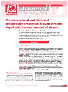 Microstructural and electrical conductivity properties of ... - CiteSeerX