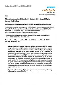 Microstructural and Kinetic Evolution of Fe Doped ... - Semantic Scholar