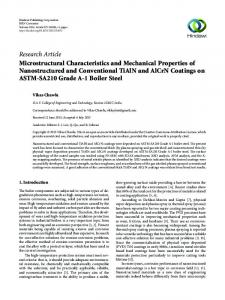 Microstructural Characteristics and Mechanical Properties of ...