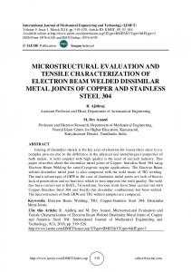 microstructural evaluation and tensile characterization of electron