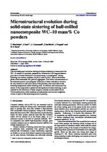Microstructural evolution during solid-state sintering of ... - LMT - Uab