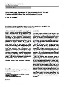 Microstructural Evolution of Electromagnetically Stirred Feedstock ...