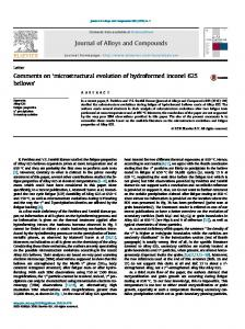 microstructural evolution of hydroformed inconel 625