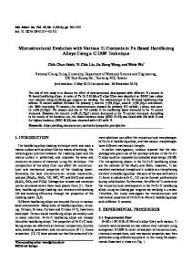 Microstructural Evolution with Various Ti Contents in Fe ... - Springer Link