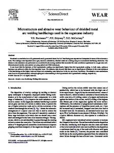 Microstructure and abrasive wear behaviour of ...