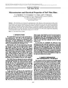 Microstructure and Electrical Properties of SnS Thin Films - Springer Link