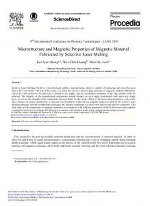 Microstructure and Magnetic Properties of Magnetic ... - ScienceDirect