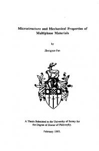 Microstructure and Mechanical Properties of Multiphase Materials