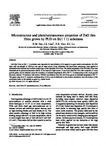 Microstructure and photoluminescence properties of
