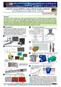 Microstructure characterization and modeling the