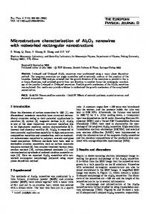 Microstructure characterization of Al2O3 nanowires ... - Springer Link