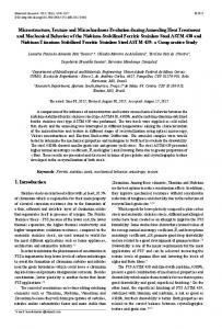 Microstructure, Texture and Microhardness Evolution during ... - Scielo.br