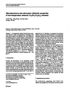Microstructures and microwave dielectric properties of ... - Springer Link