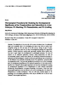 Microsurgical Procedures for Studying the ... - Semantic Scholar