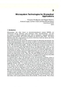 Microsystem Technologies for Biomedical Applications
