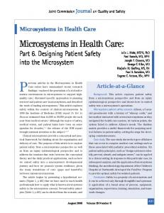 Microsystems in Health Care - Clinical Microsystems