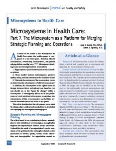 Microsystems in Health Care:
