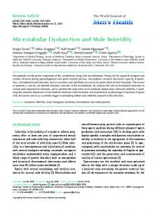 Microtubular Dysfunction and Male Infertility