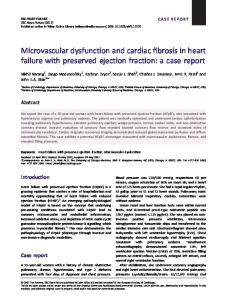Microvascular dysfunction and cardiac fibrosis ... - Wiley Online Library