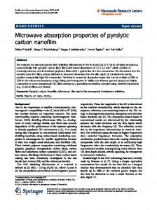 Microwave absorption properties of pyrolytic carbon nanofilm