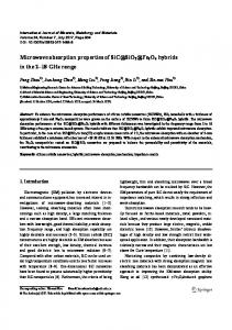 Microwave absorption properties of SiC@ SiO2@ Fe3O4 hybrids in ...