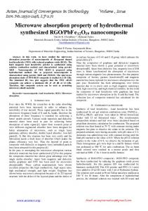 Microwave absorption property of hydrothermal ...