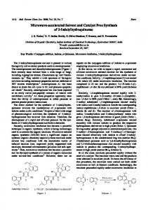 Microwave-accelerated Solvent and Catalyst Free ... - CiteSeerX