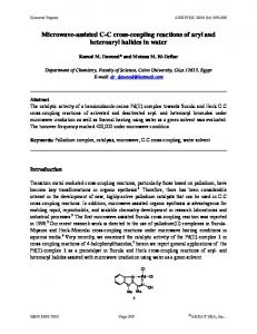 Microwave-assisted CC cross-coupling reactions of aryl and ... - Arkivoc