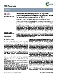 Microwave-assisted preparation of sepiolite-supported magnetite ...