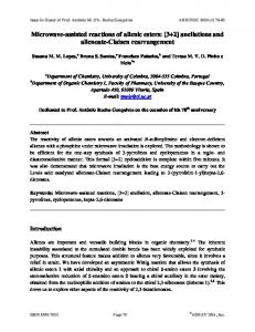 Microwave-assisted reactions of allenic esters: [3+2 ... - Arkivoc