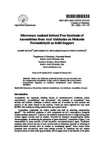 Microwave Assisted Solvent Free Synthesis of ...