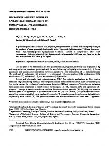 microwave-assisted synthesis and antibacterial activity of some ...
