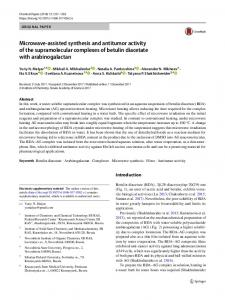Microwave-assisted synthesis and antitumor activity of ...
