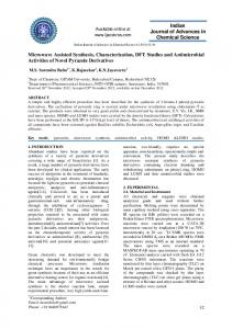 Microwave Assisted Synthesis, Characterization, DFT Studies and