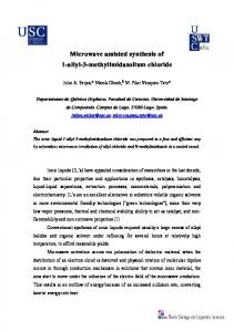 Microwave assisted synthesis of 1-allyl-3 ... - Sciforum