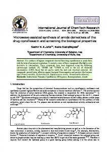 Microwave assisted synthesis of amide derivatives of