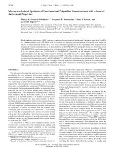 Microwave-Assisted Synthesis of Functionalized Polyaniline ...