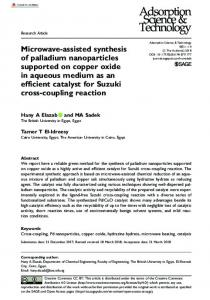 Microwave-assisted synthesis of palladium nanoparticles supported