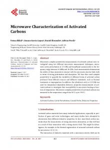 Microwave Characterization of Activated Carbons - Scientific ...