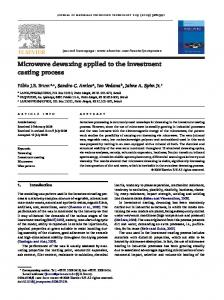 Microwave dewaxing applied to the investment casting process - Ufrgs