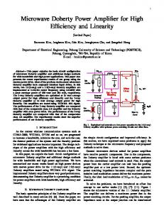 Microwave Doherty Power Amplifier for High Efficiency and Linearity