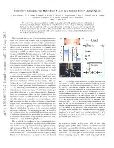 Microwave Emission from Hybridized States in a Semiconductor ...