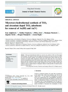 Microwave-hydrothermal synthesis of TiO2 and