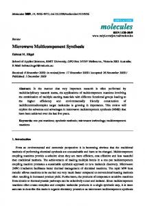 Microwave Multicomponent Synthesis - MDPI