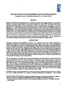 microwave nondestructive testing of