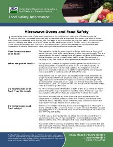 Microwave Ovens and Food Safety - Food Safety and Inspection ...