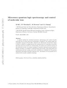 Microwave quantum logic spectroscopy and control of molecular ions