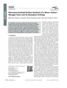 MicrowaveAssisted Surface Synthesis of a BoronCarbonNitrogen ...