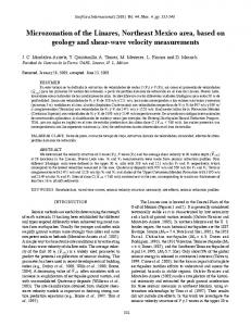 Microzonation of the Linares, Northeast Mexico area, based ... - SciELO