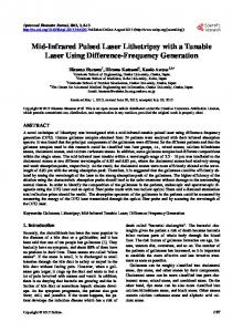 Mid-Infrared Pulsed Laser Lithotripsy with a
